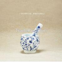 Porcelain Glazed Mortar and Pestle
