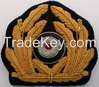 WWII German Kriegsmarine Visor Cap Badge Hand Embroidery Badge