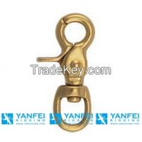 Solid Brass Harness Eye Trigger Snap Hook for Bag