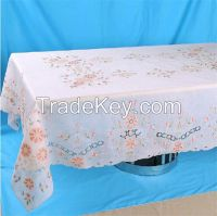 Rectangular embroidered table cloth