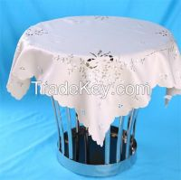 square satin embroidered table cloth