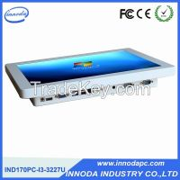 17'' Customer Design 4-Wires Touchscreen All-in-one Embedded Panel PC With Dual Core I3 2GRAM 32G SSD