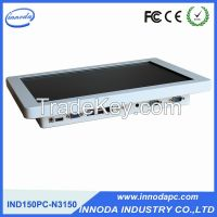 White Color All In One Computer With 15'' LED Panel OEM Fanless Touch Screen Industrial Pc