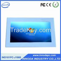 10.1-Inch Fanless LCD LED Touch PC Rugged Computer With White Color