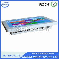 15-Inch LED Panel Industrial Computer With AMD1037U Board / Factory Design All In One Pc Computer