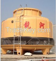 Acid-resistant FRP circulating water cooling tower