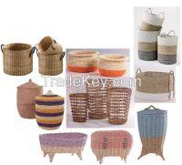 baskets, storages, vases, pots, wall mirror, art deco, table tops