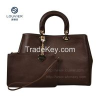 2014 fashion genuine leather handbags satchel genuine leather handbags high quality cow leather from italy first layer