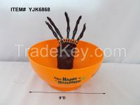 Animated Halloween Skeleton Hand Animated Candy Bowl with Motion Sensor