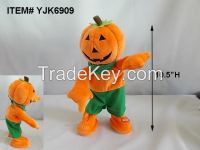 "Halloween Animated Singing dancing Pumpkin Plush ""what does the fox say"""