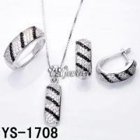 Black and White Rhodium Jewelry