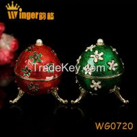 Eagle Decoration Faberge Russia Eggs Trinket Box Sculpture Casket Vintage Home Decoration Easter Egg Magnet Metal Crafts