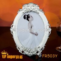 Children Table Stand Metal Picture Frames Sweet Warm Gift Pearl Decoration 3inch Round Frame Baby Kids Photo Wall