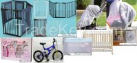 safe gate and fence/children bike/baby netting/baby lotion/