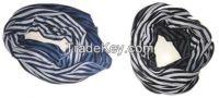 Stripes dip dyed ring scarf