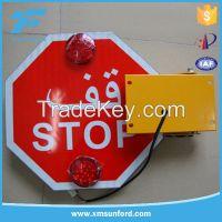 Arab high reflective sheet flashing auto-turning led stop signs