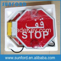 safety auto turning warning labels customize stop sign