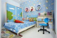 children bed&wardrobe Material:E1 grade MDF with melamine