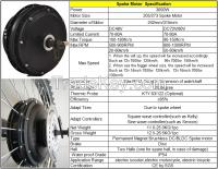 48V 3000W Electric Spoke Hub Motor