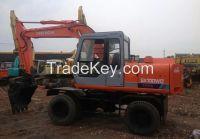 Used Wheeled Excavator HITACHI EX100WD