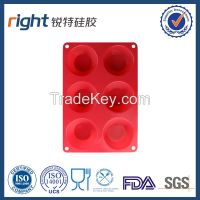 Dongguan Right silicone/Cheap 6 cups silicone molds for microwave cake