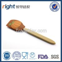 Silicone spatula with wood handle--Dongguan Right Silicone