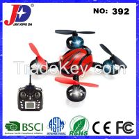 HOT Selling JXD392 4CH 2.4G 4-Aexs Aerocraft 6-Aexs Gyro Mini RC Quadcopter with Camera