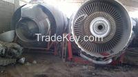 Aircraft jet engine scrap