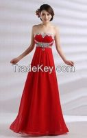 2014 New Empire Summer Dress Girl Party Tube Quality Long Bride Dress
