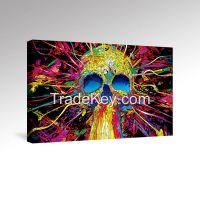 Custom Make Canvas Wall Art, Galllery Wrap Frame, Abstract Skull Poster Prints, Fresh Home Decor Use