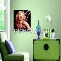 Canvas Print picture, Gallery Wrap Frame, Marilyn Monroe Sexy Pop star, Poster Prints, Ready to Hang onto Wall
