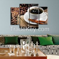 Canvas Wall Art, Gallery Wrap Frame, Coffee Beans Wall Pictures Prints, 4 panels a set, Brighten Home Decor Use