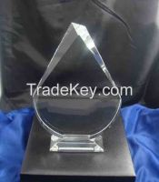 k9 blank crystal glass trophy award for business gifts