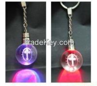 personalized k9 blank crystal glass keychain for promotional gifts