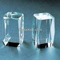 k9 blank glass crystal cube for 3d laser engraving
