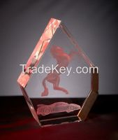 3d laser engraving k9 crystals cube for souvenirs gifts