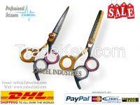 Professional Hair Cutting Scissor 3 Ring Razor Barber Salon Shears & Thinner