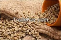 green washed arabica coffee