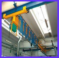 European style electric single beam bridge crane with hook