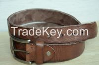 100% Genuine Cowskin leather belt Men's belt Brown Durable Distressed Cowhide Belt