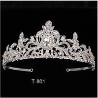 Tiara With Comb Clear Rhinestone