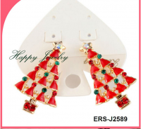 Newest Design Wholesale Prices!!  Red tree shape earrings