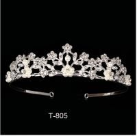 Tiara With Comb Clear