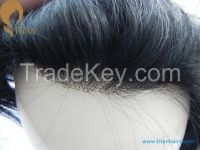 100% nature human hair toupee high quality