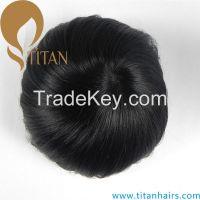100% nature human hair toupee high quality