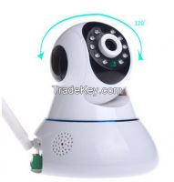 Dome IP Camera AI-803 1MP high definition video captures every detail;Remote Control with Mobile/PC;Easy install with WIFI connection;Support Two-Way Conversation;Send alarm messages at the first time;Support up to 32GB TF card.