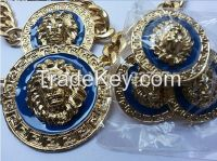 2014 New Fahion Jewelry Gold Plated Enameled Lion Head Necklace Earrin