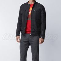 Men Biker Style Textile Jacket