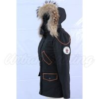 Women Black Tech Parka