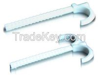 Plastic fasteners for under